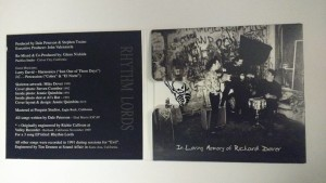 Early Days - Inside Cover